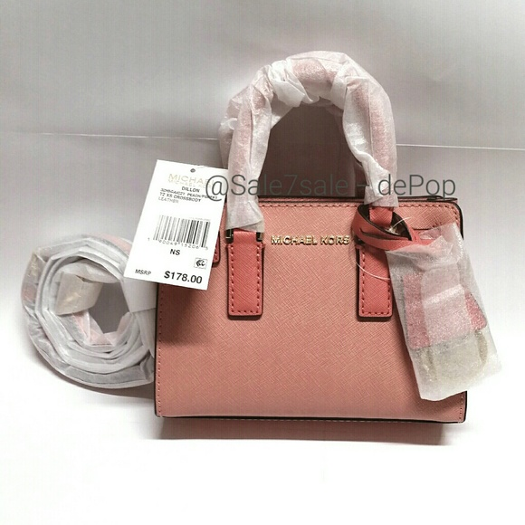 c3fb66661aeb Michael Kors Bags | Final Price Mk Leather Crossbody Mini Satchel ...